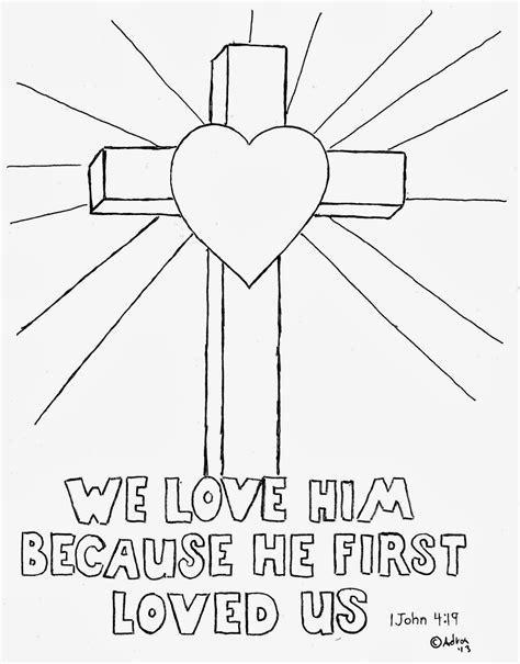 cross coloring pages getcoloringpagescom