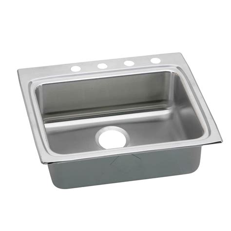 25 stainless steel kitchen sink elkay lustertone drop in stainless steel 25 in 4 7308