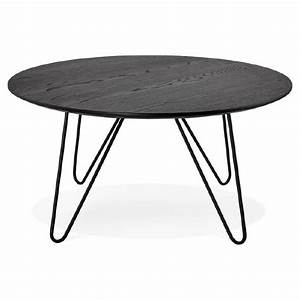 Table Basse Bois Metal Industriel : table basse design style industriel frida en bois et m tal noir ~ Teatrodelosmanantiales.com Idées de Décoration