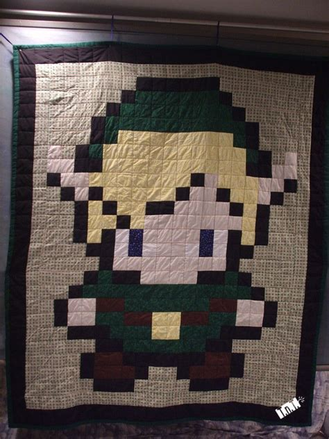 Image Detail For 66x80in Pixellated Link Quilt Legend Of