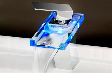 cheap kitchen faucets led tap light the funky light for your faucets