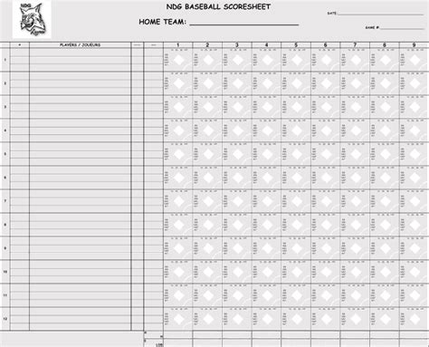 printable baseball scorecards scoresheets