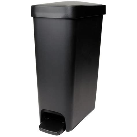 Oxo Kitchen Garbage Cans by Oxo 10 1 2 Gallon Slim Step Trash Can Black In Kitchen