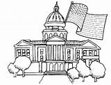 Capitol Coloring Building Pages Presidents Template Drawing Sketch Popular sketch template