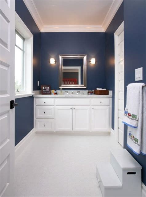 navy blue bathroom ideas navy blue and white bathroom home ideas pinterest
