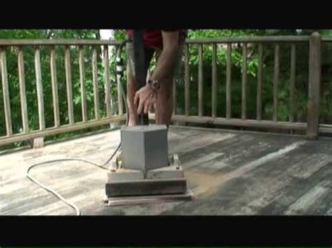 sanding a deck sanding wood decks youtube