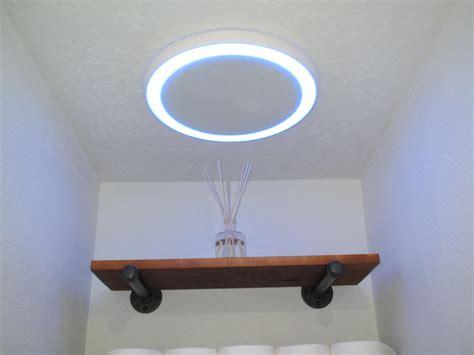bathroom fan wbluetooth speaker light  blue