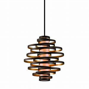Pendant lighting bulbs : Vertical pendant light with inner glass cylinder shade and