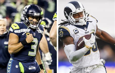 los angeles rams  seattle seahawks  nfc west control