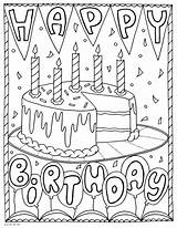Coloring Birthday Printable Happy Cake Adults Activity 101activity Sheets Party Printables Adult Dustin Duathlongijon Luxury Words K5worksheets Abstract sketch template