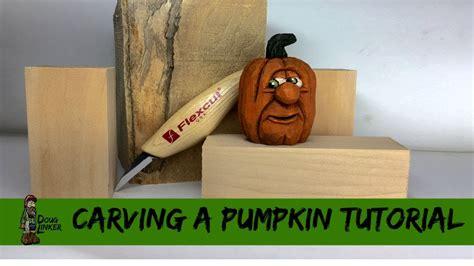 woodcarving   carve  pumpkin head   block