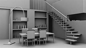 3d, Models, In, Autodesk, Maya, Interior, Dining, Area