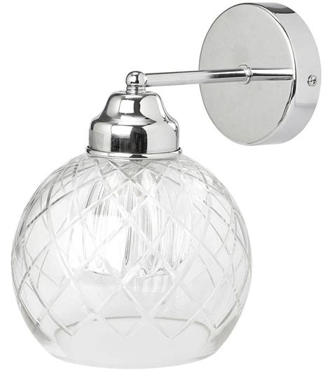 gabby cut glass wall light the gabby wall light features