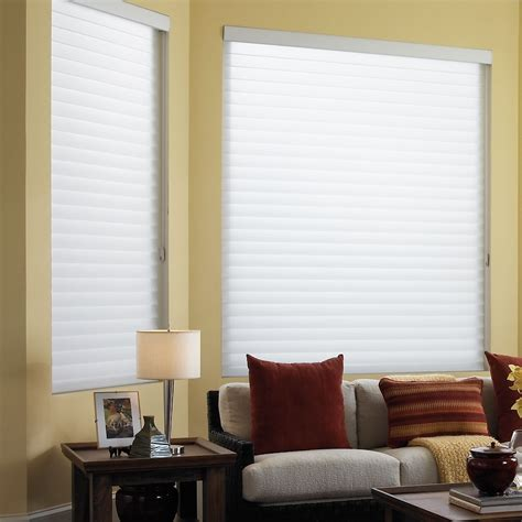 room darkening sheer shades  horizontal fabric vanes