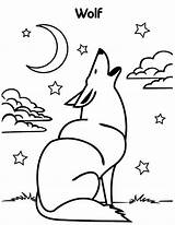 Wolf Coloring Howling Moon Wolves Pages Drawing Drawings Print Colour Luna La Getdrawings Uniquecoloringpages 776px 53kb sketch template