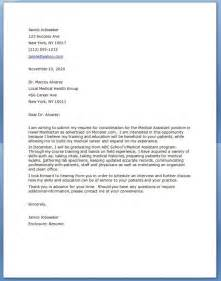 Cover Letter For Medical Assistant Job Search
