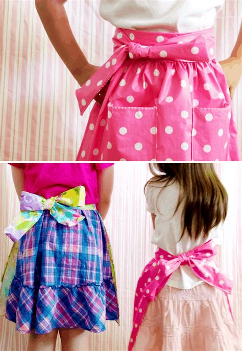 cute diy apron patterns  keeping clean   kitchen