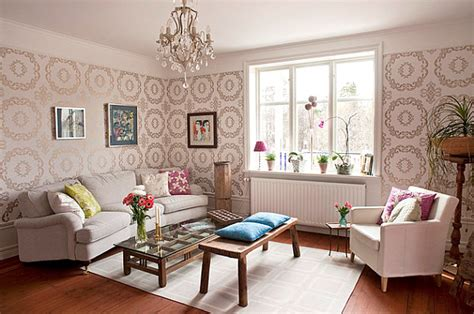 Wallpapered Living Rooms Ideas : 20 Eye-catching Wallpapered Rooms
