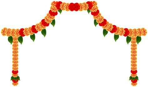 india floral decor clip art image    images