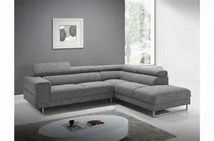 canape d39angle droit gris chine en tissu zion design sur With canapé design tissu gris
