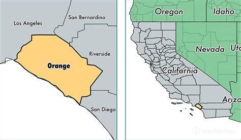 orange county california map  orange county ca