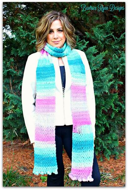 Scarf Crochet Pattern Saturday Grace Amazing Beatriceryandesigns