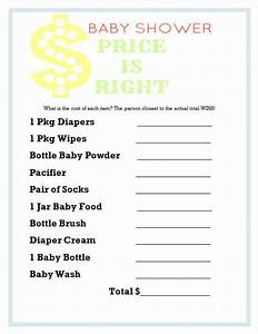 baby shower games price is right frugal fanatic With free printable price is right baby shower game template
