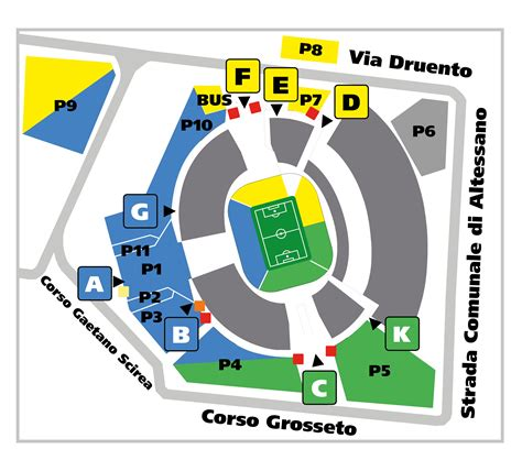 Mappa Juventus Stadium Ingressi by Parking Juventus