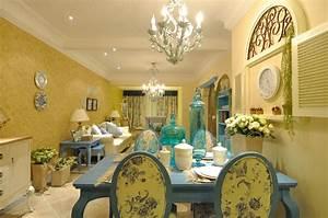 Mediterranean Style Restaurant Wall DecorationInterior Design