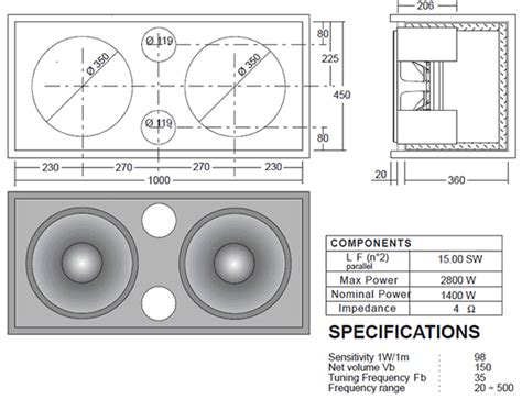 2x10 Bass Cabinet Plans by Omega Pro 15a Speakerplans Forums