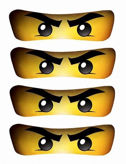 Ninjago Eyes Lego Ninja Birthday Party Clipart