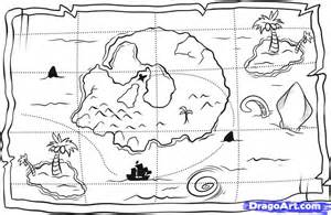 How to Draw a Treasure Map Step by Step