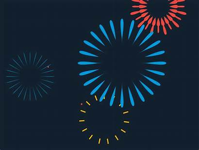 Fireworks Dribbble Animation Effects Playing Background Happy