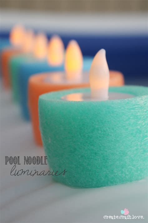 pool noodle luminaries dollar store crafts