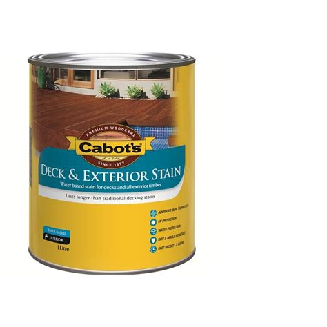 cabots deck stain bunnings cabot s water based deck and exterior stain 1l charcoal