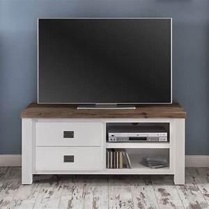 Tv Lowboard Landhausstil : tv lowboard lyron in akazie massiv wei braun 120 cm ~ Michelbontemps.com Haus und Dekorationen
