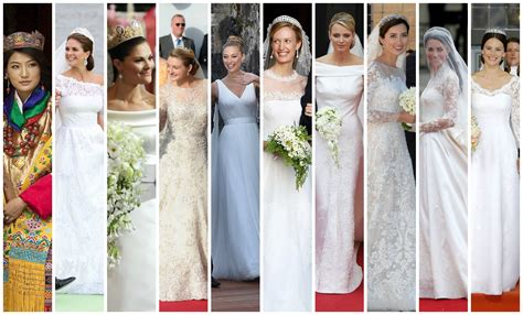 ten years  royal wedding gowns  fug