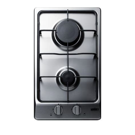 two burner cooktop summit appliance 12 in gas cooktop in stainless steel