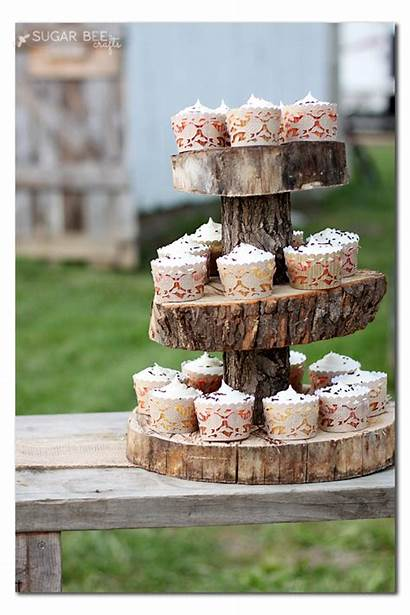 Stand Rustic Cupcake Paper Tissue Wood Crafts