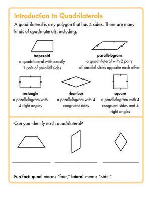 grade geometry worksheets  printables