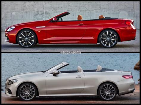 e klasse cabrio 2017 vergleich mercedes e klasse cabrio 2017 vs bmw 6er f12 lci