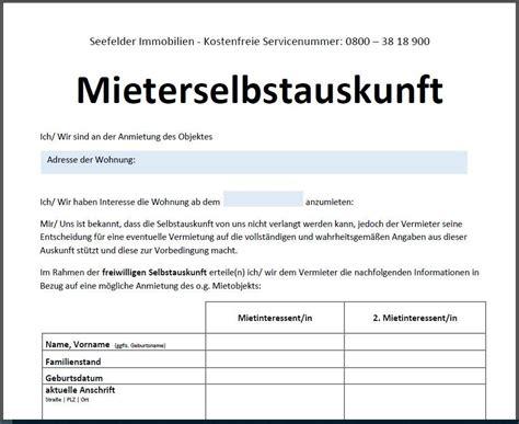Wohnung Mieten Lübeck Ohne Schufa by Wohnungsbewerbung I ᐅ Mieterselbstauskunft 2019 Hier Jetzt