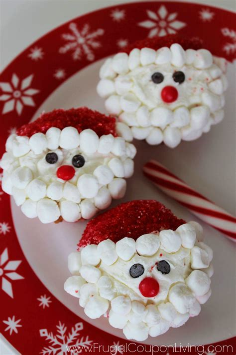 christmas santa cupcakes kids food craft