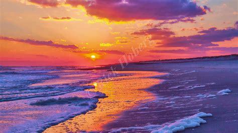 Peaceful Sunset Beach Photo By Rick Hoberg Long Island