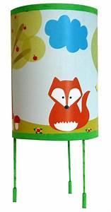 Lampe De Chevet Pour Enfant : luminaire enfant lampe de chevet le renard et le hibou ~ Melissatoandfro.com Idées de Décoration