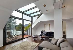 Wohnzimmer Modern Bilder : moderne wohnzimmer bilder dachgeschoss mit glasgaube homify ~ Bigdaddyawards.com Haus und Dekorationen