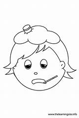 Sick Coloring Outline Pages Emotions Child Feelings Colouring Ill Flashcards Angry Clipart Sad Cold Hungry Scared Library Happy Popular Searches sketch template