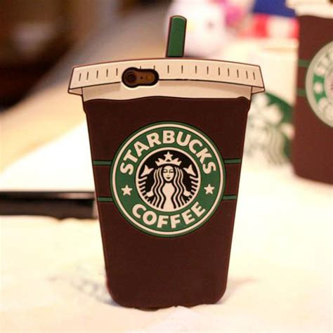 starbucks coffee cup silicone iphone   case brown