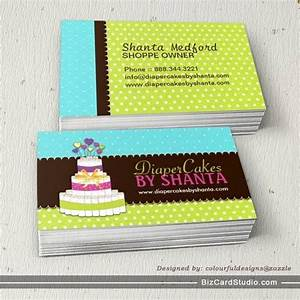 Diaper cake business cards bakery business cards pinterest for Cake business card ideas
