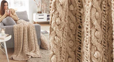 comment decorer sa cuisine le plaid tricote en torsades beige prima